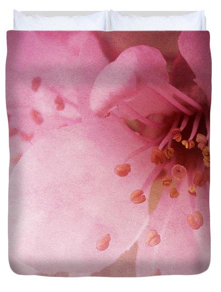 Pink Spring Blossom Duvet Cover