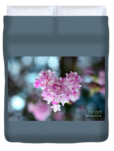 Pink Spring Heart Duvet Cover by Sabine Jacobs