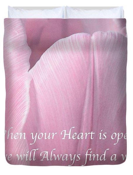 Pink Spring Tulip Duvet Cover by Jeannie Rhode
