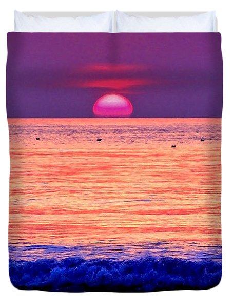 Pink Sun Duvet Cover