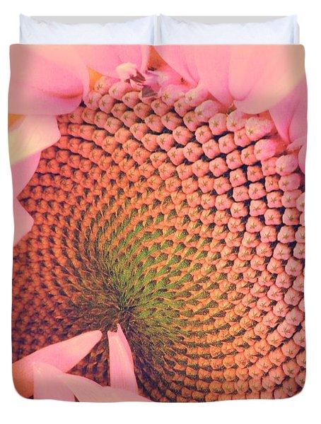 Pink Sunflower Duvet Cover