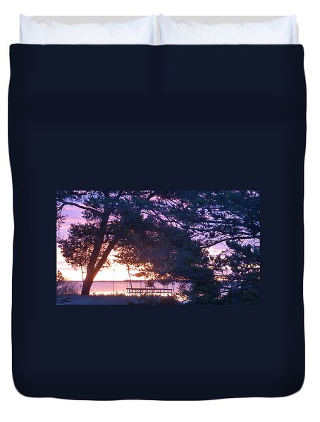 Pink Sunrise Duvet Cover by Rogerio Mariani