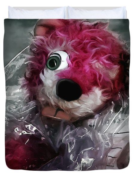 Pink Teddy Bear In Evidence Bag @ Tv Serie Breaking Bad Duvet Cover