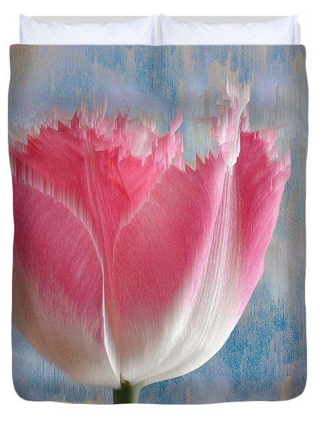 Pink Tulip Duvet Cover by Mark Greenberg