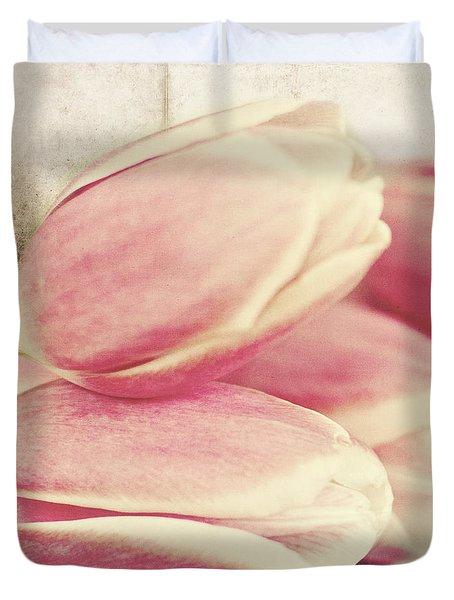 Pink Tulips Duvet Cover