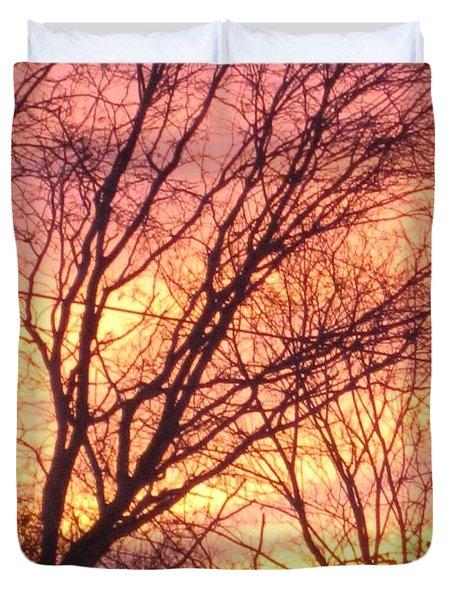 Pink Twilight Duvet Cover