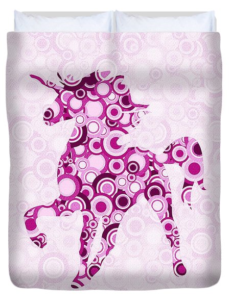 Pink Unicorn - Animal Art Duvet Cover