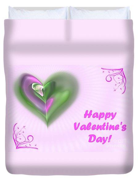 Pink Valentine Duvet Cover