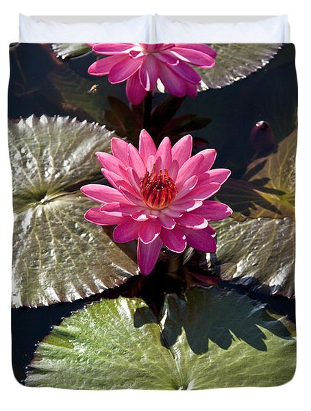 Pink Water Lily IIi Duvet Cover by Heiko Koehrer-Wagner