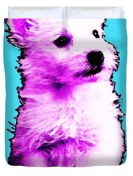 Pink Westie - West Highland Terrier Art By Sharon Cummings Duvet Cover by Sharon Cummings