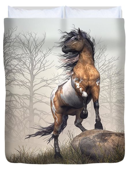 Duvet Cover featuring the digital art Pinto by Daniel Eskridge