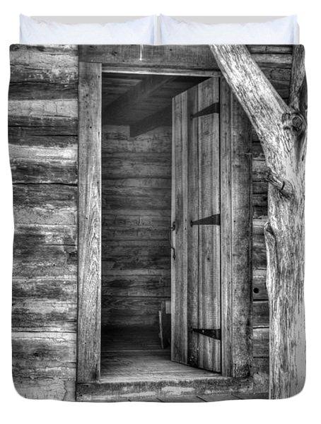 Pioneer Cabin Door Duvet Cover