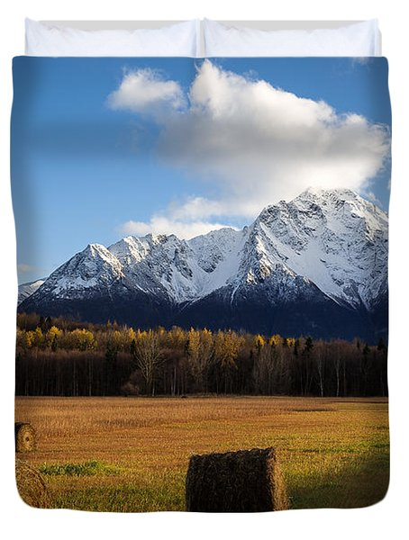 Pioneer Hay Fields Duvet Cover