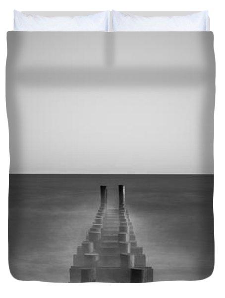 Pipe Dream Bw Vertical  Duvet Cover