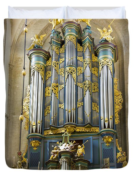 Pipe Organ In Breda Grote Kerk Duvet Cover