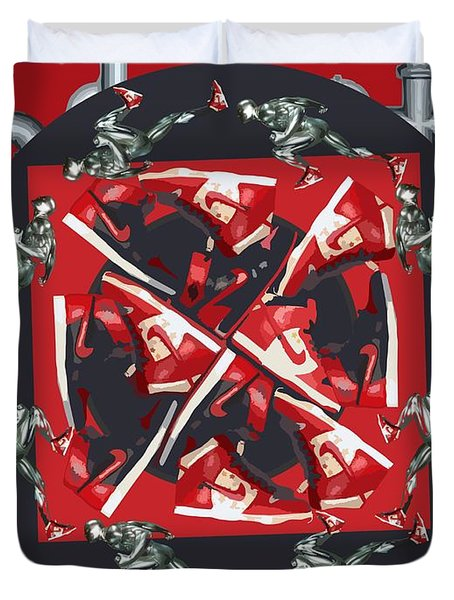 Pipes And Kicks Duvet Cover by Alfie Borg