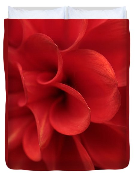 Scarlet Pipes Duvet Cover by Connie Handscomb