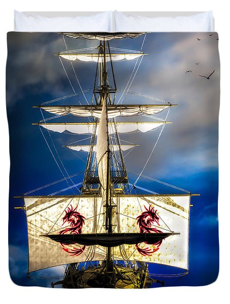 Pirates Duvet Cover by Bob Orsillo