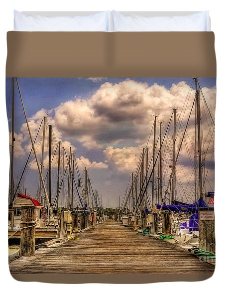 Pirate's Cove Duvet Cover by Lois Bryan