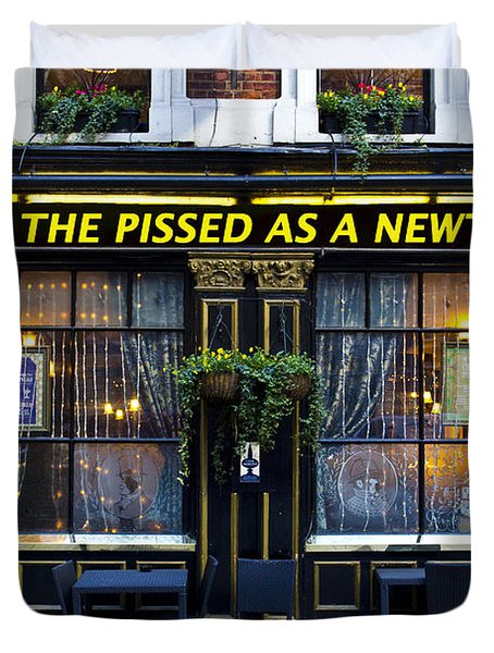 Pissed As A Newt Pub  Duvet Cover