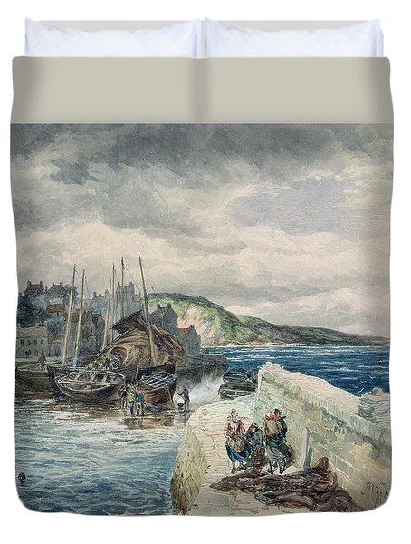 Pittenweem, Fife Duvet Cover