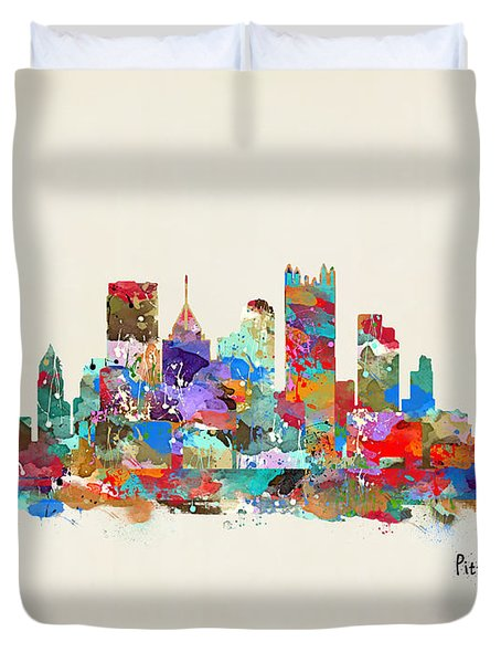 Pittsburgh Skyline Pennsylvania Duvet Cover