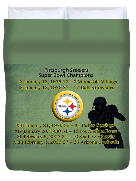 Pittsburgh Steelers Super Bowl Wins Duvet Cover