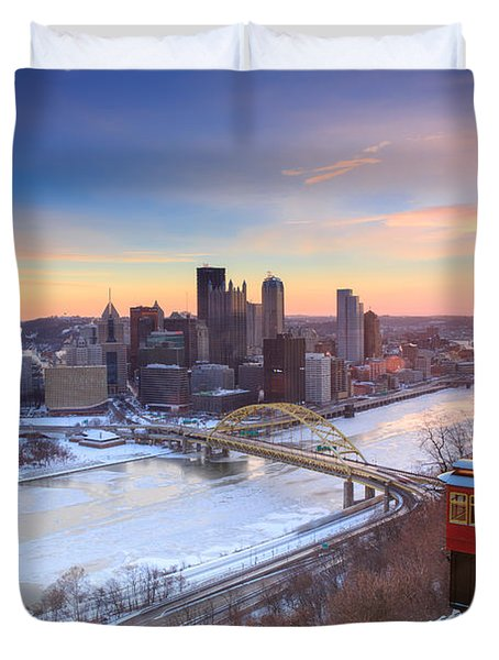Pittsburgh Winter 2 Duvet Cover by Emmanuel Panagiotakis