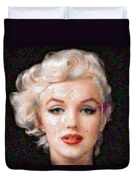Pixelated Marilyn Duvet Cover
