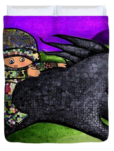 Pixel's Wild Ride Duvet Cover