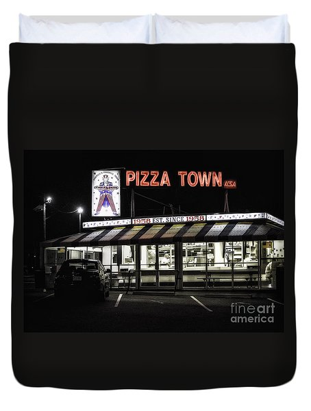 Pizza Town Duvet Cover