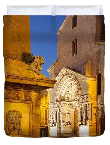 Place De La Republique Duvet Cover by Brian Jannsen