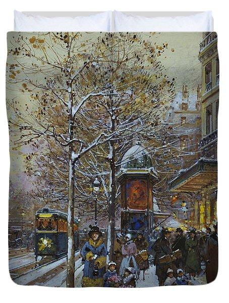 Place De La Republique Paris Duvet Cover