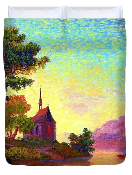 Beautiful Church, Place Of Welcome Duvet Cover