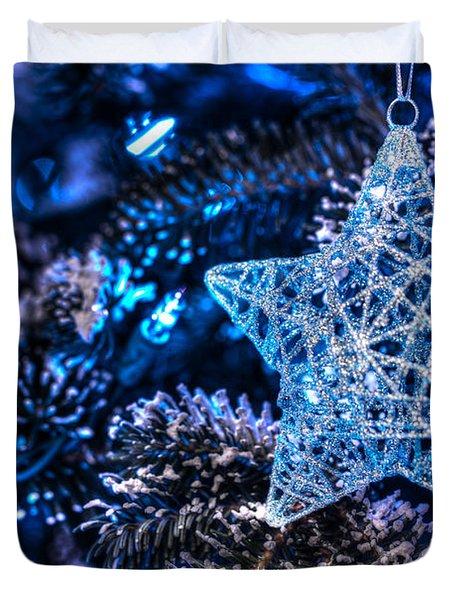 Blue Christmas Duvet Cover