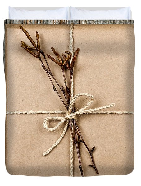 Plain Gift With Natural Decorations Duvet Cover