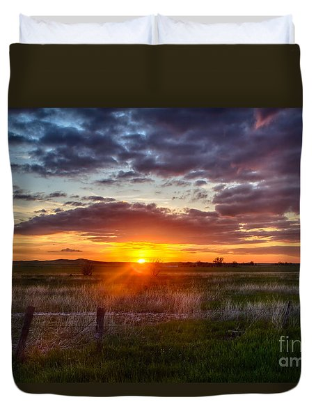 Plains Sunset Duvet Cover