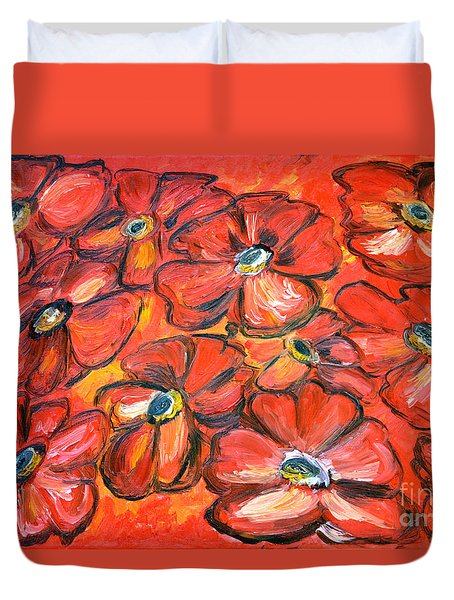 Plaisir Rouge Duvet Cover by Ramona Matei