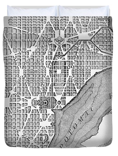 Plan Of The City Of Washington As Originally Laid Out In 1793 Duvet Cover by American School
