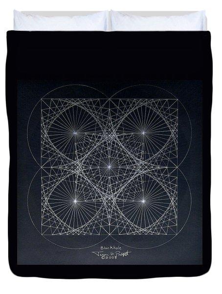 Plancks Blackhole Duvet Cover by Jason Padgett