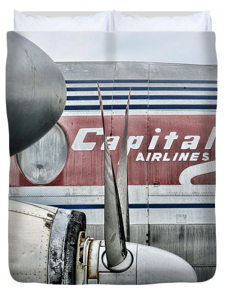 Plane Obsolete Airline Duvet Cover by Paul Ward