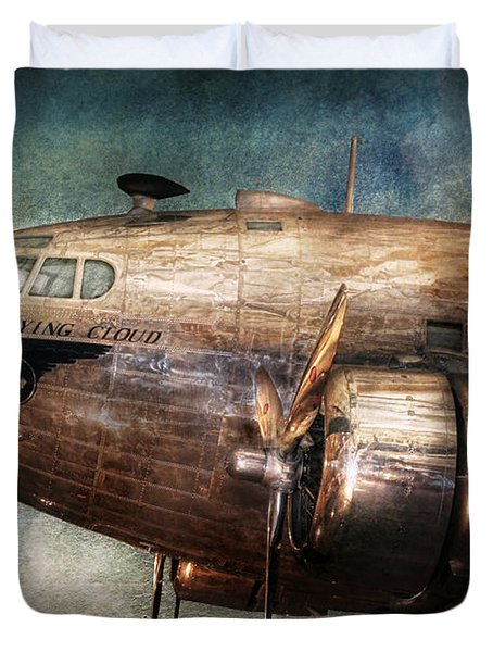 Plane - Pilot - The Flying Cloud  Duvet Cover by Mike Savad