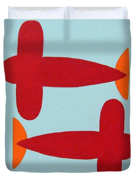 Planes  Duvet Cover by Graciela Castro