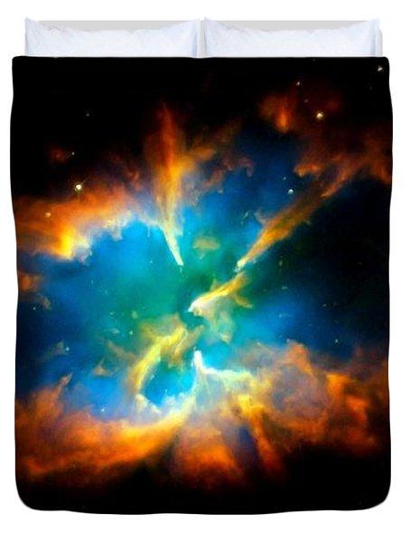 Planetary Nebula Duvet Cover by Amanda Struz