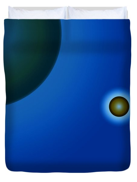Planets Of Mercy Duvet Cover by Sir Josef - Social Critic - ART