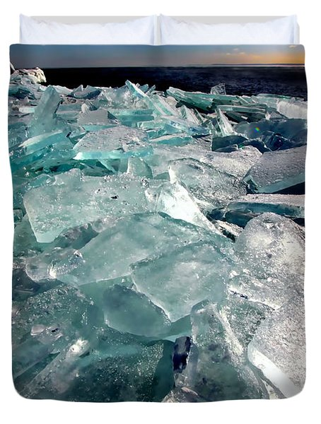 Plate Ice  Duvet Cover by Amanda Stadther