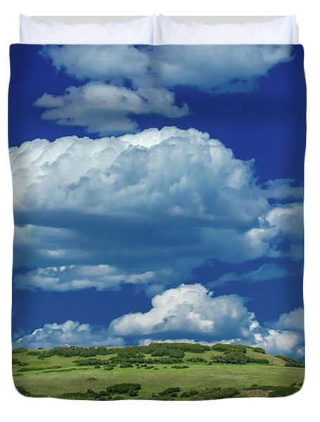 Plateau With Clouds - San Juan Duvet Cover