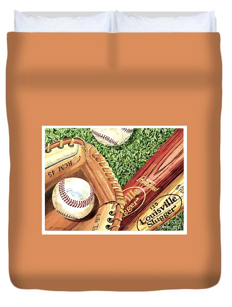 Play Ball Duvet Cover by Rick Mock