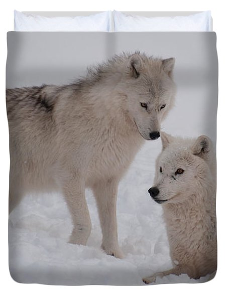 Duvet Cover featuring the photograph Play Time by Bianca Nadeau