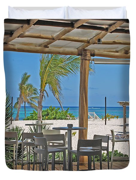Playa Blanca Restaurant Bar Area Punta Cana Dominican Republic Duvet Cover